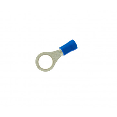 Conectores | Terminales | 100 uds. terminal preaislado redondo azul ø6 ,4 mm. (Copain TA106)