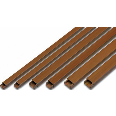 Canaletas | Canaletas | 2m. de canaleta adhesiva marrón 10x20mm. (Famatel 71629A)