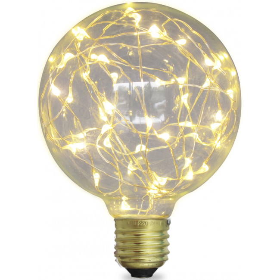Bombillas decorativas | Bombillas decorativas Led | L�mpara Led globo starlight decorativa E27 2W 50Lm 3000�K 125x170mm. (GSC 2004832)