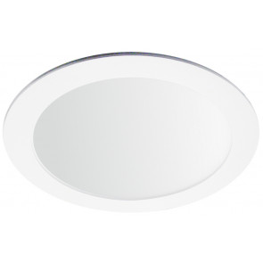 Downlight Led redondo empotrable blanco 18W 3000°K 225x19mm. (Ledesma 10751)