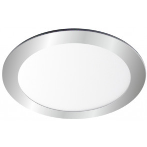 Downlight Led redondo empotrable plata 6W 4000°K 121x19mm. (Ledesma 10795)