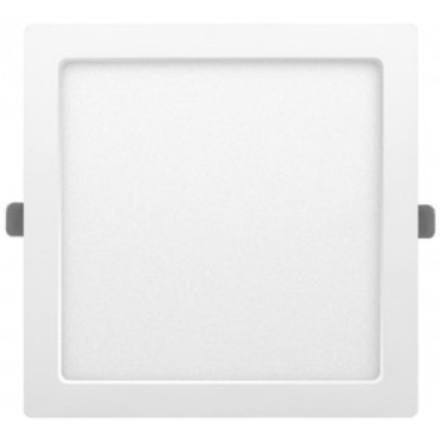 Downlight Led cuadrado empotrable o superficie Monet blanco 24W 6000°K 291x291mm. (ALG 67658)