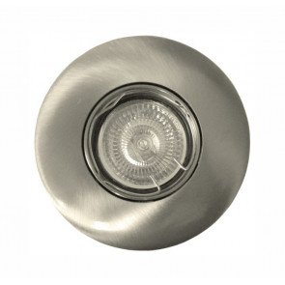 Aro empotrable de aluminio redondo níquel satín GU10 øcorte: 80mm. (Ledesma 10585)