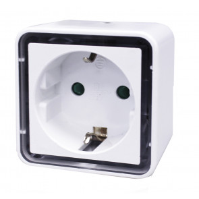 Luz de noche Led con sensor crepuscular con toma 0,8W (GSC 001303311) (Blíster)
