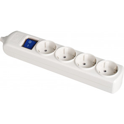Base múltiple blanca 3680W 4 tomas sin cable 250V 16A (Solera 8004IL)