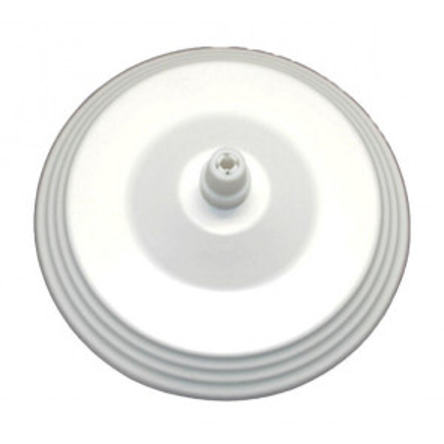 Florón metálico decorativo blanco ø12cm. (F-Bright 1301025)