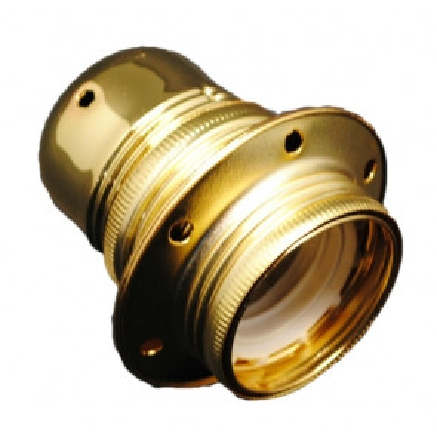 Portalámparas decorativo vintage metálico oro E27 100W (F-Bright 1200604-D)