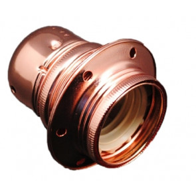 Portalámparas decorativo vintage metálico cobre E27 100W (F-Bright 1200604-RO)