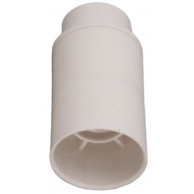 Portalámparas liso blanco E14 2A 250V (Solera 6584CLB)