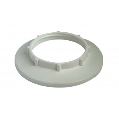 Arandela contra anillo ala grande blanca para portalámparas E27 (Solera 831)