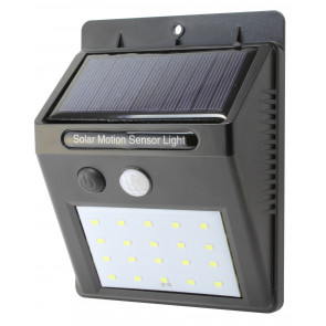 Mini aplique solar Led recargable con sensor de movimiento 2W negro (Electro DH 81.774/N)