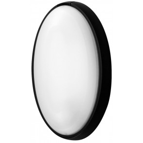 Aplique estanco oval negro E27 186x316x105mm. (Fenoplástica 7400M)