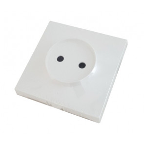 Tapa base enchufe bipolar blanco BF-25 (Bricofontini 26 650 05 0)