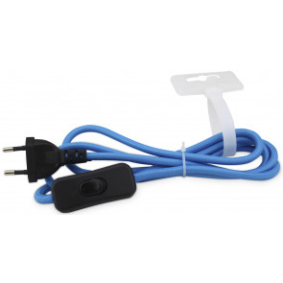 1,5m. conexión textil con interruptor de paso azul (GSC 1102963)