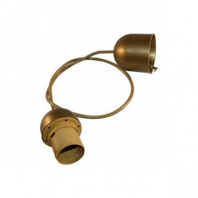 1m enfilaje dorado E27 con cable y florón