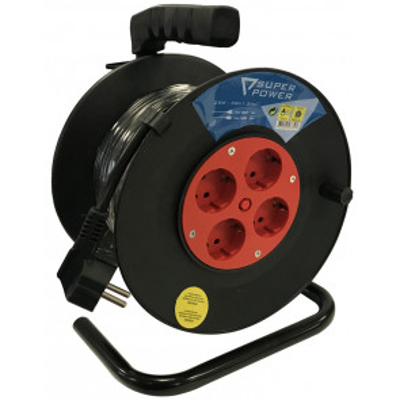 50m. extensible eléctrico plástico 4 tomas TTL 16A 3x1,5mm. (56733)