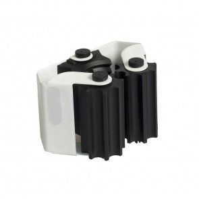 Cuelga escobas adhesivo o tornillos (Köppels E1001B) (Blíster)
