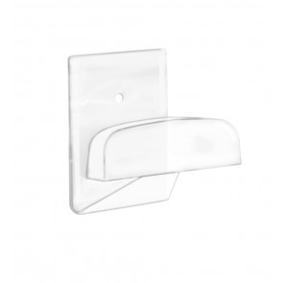 Percha adhesiva grande plástica transparente adhesiva o tornillos 40x50mm. (Köppels P3003T) (Blíster)