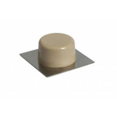 2 ud. tope para puertas beige adhesivo con base de acero inoxidable (Köppels T1001X) (Blíster)