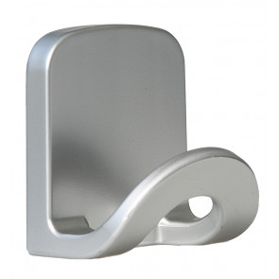 Percha grande plástica gris adhesiva multiusos (Köppels P4005C)