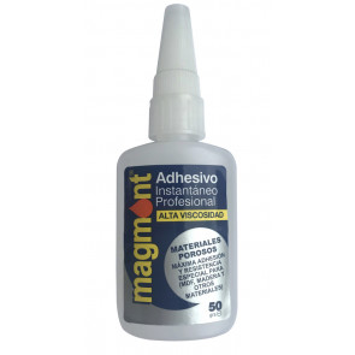 Adhesivo instantáneo profesional Ciano Magmont de viscosidad alta 50 gr