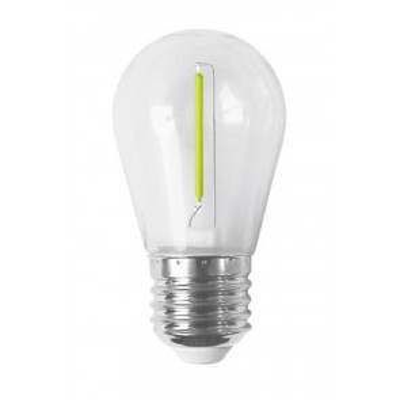 Lámpara Led filamento recto especial para guirnalda de goma E27 verde (F-Bright 2601497-V)
