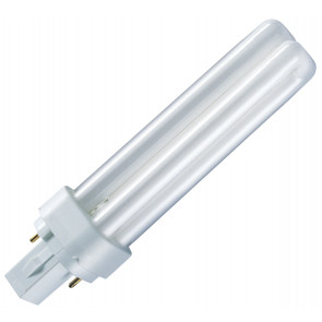 Lámpara FD-D G24D 2 PIN G24D-1 13W 2700°K 140.5mm. (Osram 008127)
