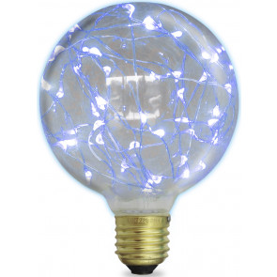 Lámpara Led globo starlight decorativa E27 2W 50Lm 6000°K 125x170mm. (GSC 2004833)
