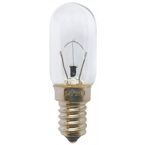 Lámpara tubular E14 25W 24V 310Lm 22x65mm.