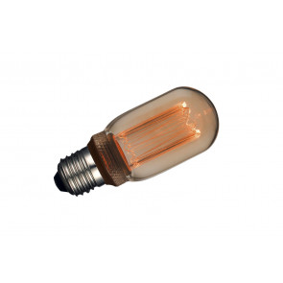 Lámpara tubular T45 filamento Led efecto incandescente ámbar 4W 1800°K (F-Bright 2601211)