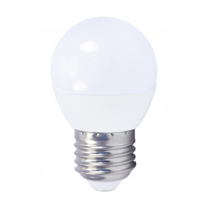 Lámpara esférica Led E27 4W 6000°K 320Lm 45x79mm. GSC (2001560)