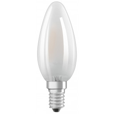 Lámpara vela cristal Led Retrofit mate E14 4W 2700°K 470Lm (Osram 4058075436503)