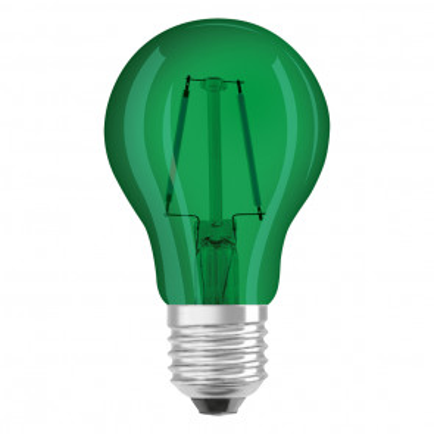 Lámpara standard cristal Led Retrofit verde 1,6W (Osram 4058075816015)
