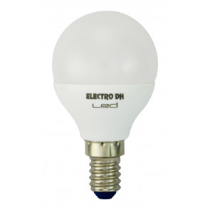 Lámpara esférica Led E14 5W 6500°K 500Lm 200° 45x81mm. (DH 81.138/5/DIA)