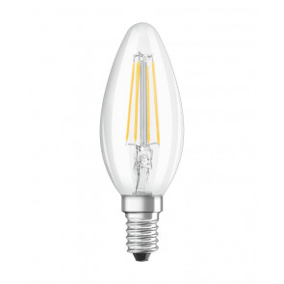 Lámpara vela cristal Led Retrofit regulable E14 5W 2700°K 470Lm (Osram 4058075437043)