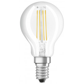 Lámpara esférica cristal Led clara Retrofit regulable E14 5W 4000°K 470Lm (Osram 4058075434868)