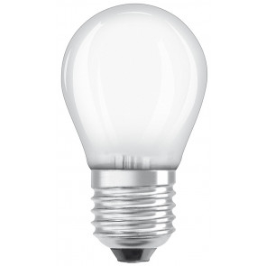 Lámpara esférica cristal Led mate Retrofit regulable E27 5W 2700°K 470Lm (Osram 4058075436909)