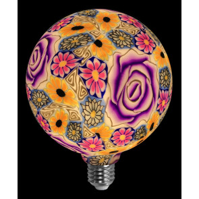 Lámpara flor violeta de silicona 4W G125 (F-Bright 2601290)