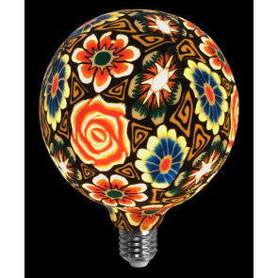 Lámpara flores con fondo negro de silicona 4W G125 (F-Bright 2601293)