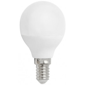 Lámpara esférica Led E14 4W 2700°K  340Lm 160° 45x79mm. (Spectrum WOJ13030)