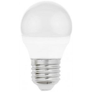 Lámpara esférica Led E27 4W 6500°K 310Lm 160° 45x79mm. (Spectrum WOJ13033)