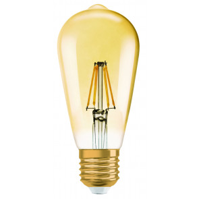 Lámpara Led pera cristal edición Vintage 1906 Osram E27 4W 2400°K 410Lm. (Osram 962095)