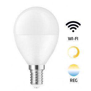Lámpara esférica Led Smart regulable de 2700°K a 6500°K + intensidad 5W 420Lm (Spectrum WOJ+14414)