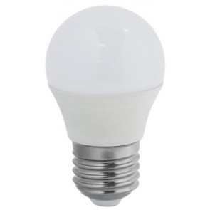 Lámpara esférica Led E27 5,5W 4000°K 470Lm 45x77mm. (Duralamp S407NB)