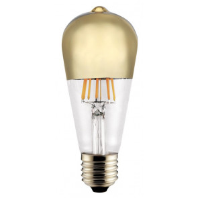 Lámpara pera reflectora cristal Led oro E27 8W 2700°K (Cristal Record 51-364-06-004)