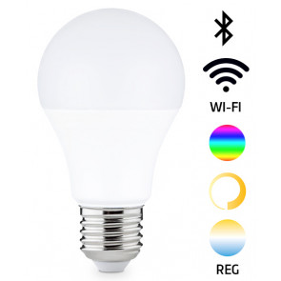 Lámpara standard Led Smart regulable RGB e intensidad 8W 806Lm (GSC 200650008)