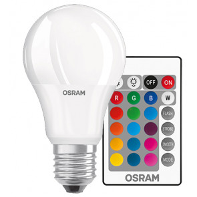 Lámpara standard Led Retrofit 2700°K + RGB con mando a distancia 9W 806Lm (Osram 4058075045675)