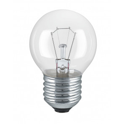 Lámpara incandescente esférica reforzada uso industrial E27 40W 350Lm 45x78mm.