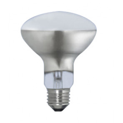 Lámpara halógena reflectora mate E27 60W 90x115mm. (Clar 11722 MATE)