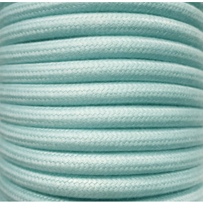 Tira 5 metros cable decorativo textil mint algodón liso (CIR62AL06)